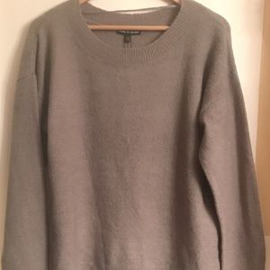 Cable & Gauge Women's Heather Gray Sweater SZ XL